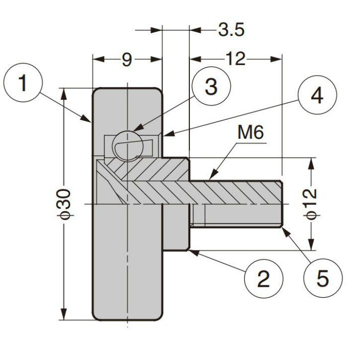 非磁性体ステンレスベアリング 外周フラットタイプ FSUS309/S3.5