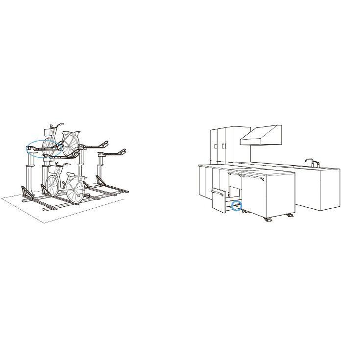 防錆型樹脂ベアリング MCD型 外周凸Rタイプ 内軸穴仕様 MCD-247/68SUS