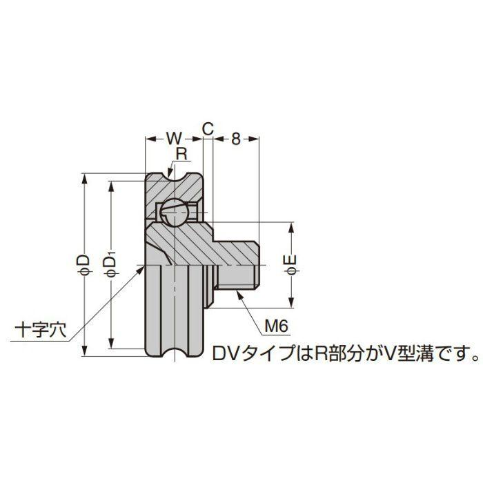 プラスチックベアリング 外周溝タイプ ねじ軸仕様 DU-24-B0.5