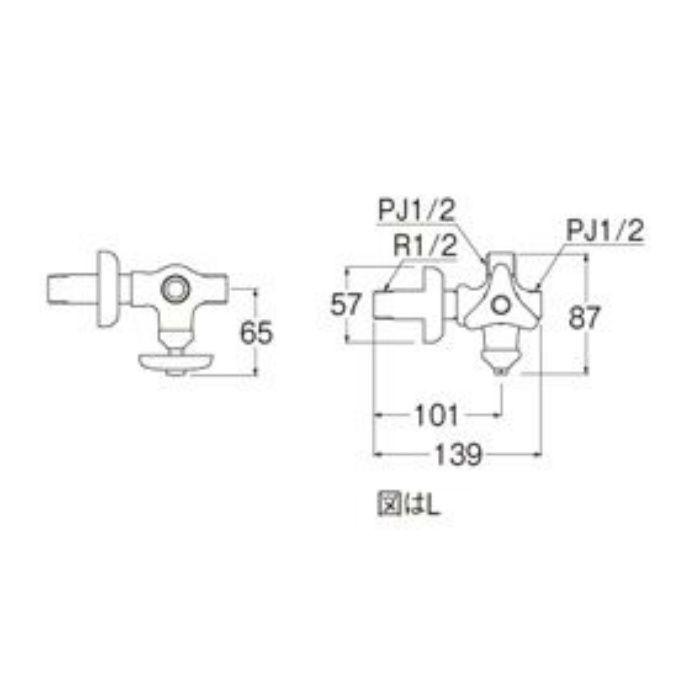 V2220LAD-X2-13 D式分岐止水栓本体(共用形)
