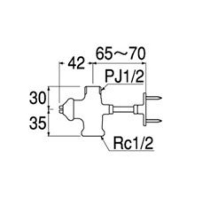 V2110D-13X48 D式止水栓本体(共用形)
