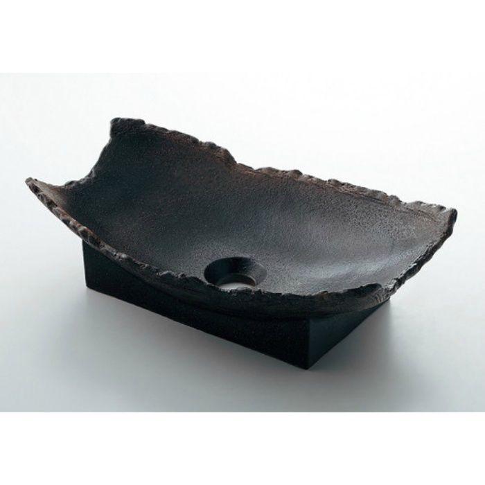 493-027-DG 和風 舟型手洗器 古窯