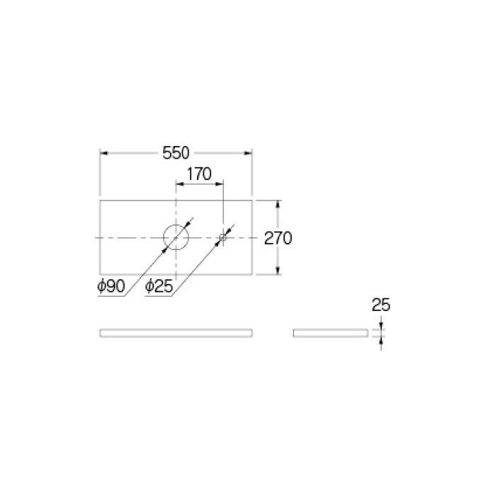 497-055-D 専用カウンター 手洗カウンター ブラック