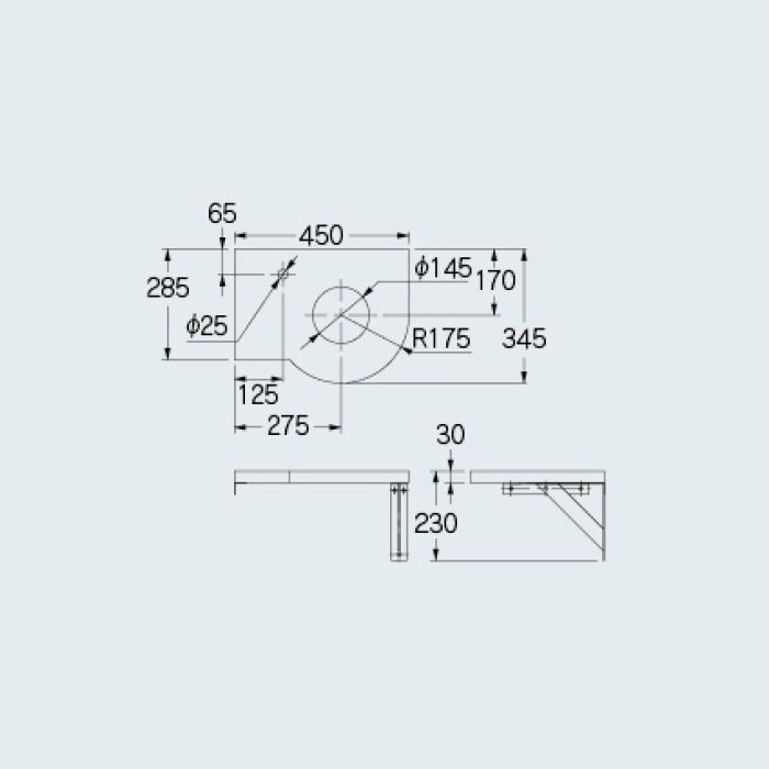 497-050-W 専用カウンター コーナーカウンター(L・R兼用タイプ) 深雪