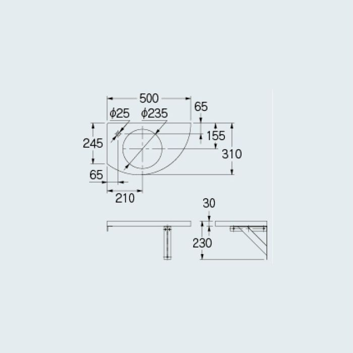 497-009-D 専用カウンター コーナーカウンター(L・R兼用タイプ) 夕霧