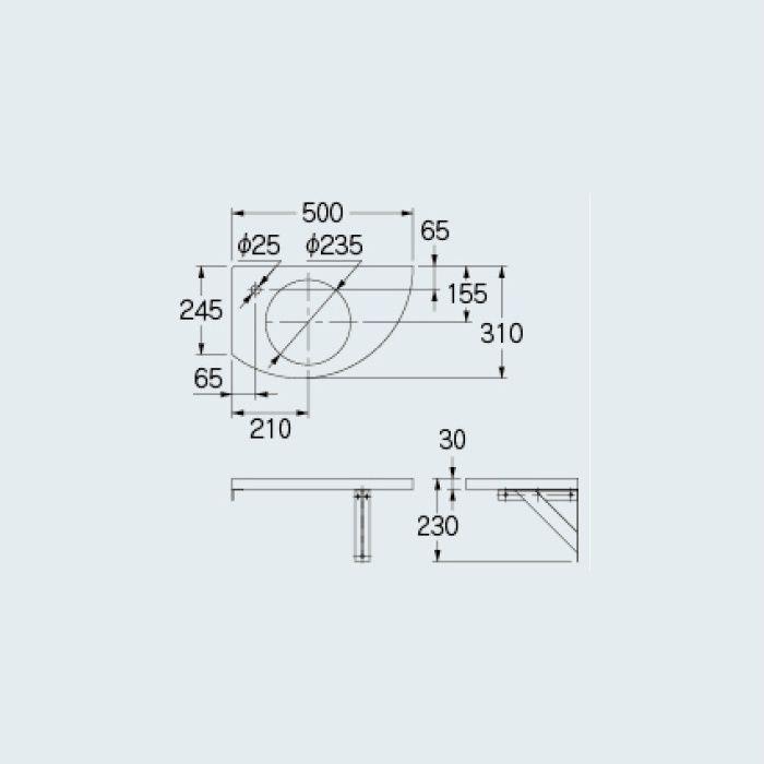 497-009-W 専用カウンター コーナーカウンター(L・R兼用タイプ) 深雪
