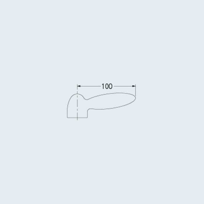 793-611 水栓本体部品 パドルレバー レッド