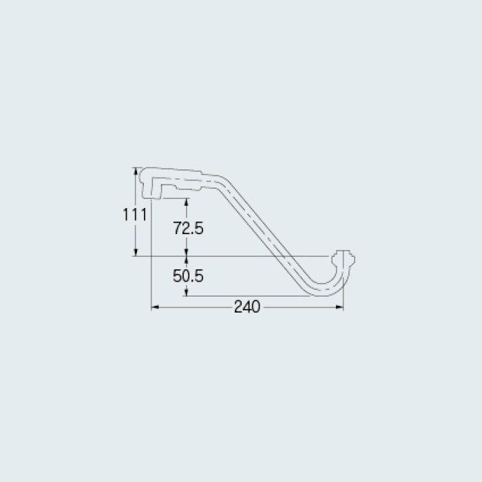 775-306 水栓先端部品 上向きパイプ