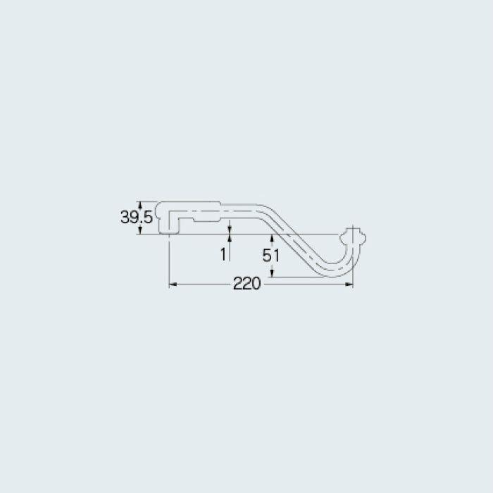 795-17-220 水栓先端部品 エコ泡沫上向きパイプ