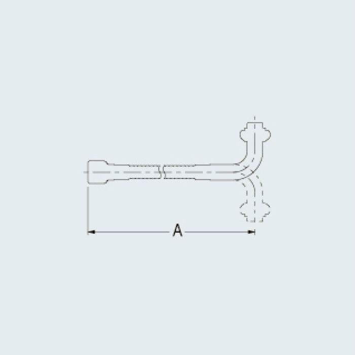 775-311 水栓先端部品 自在フレキパイプ