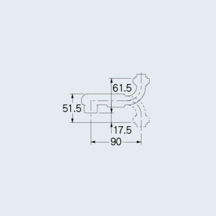 9129-90 水栓先端部品 SUパイプ