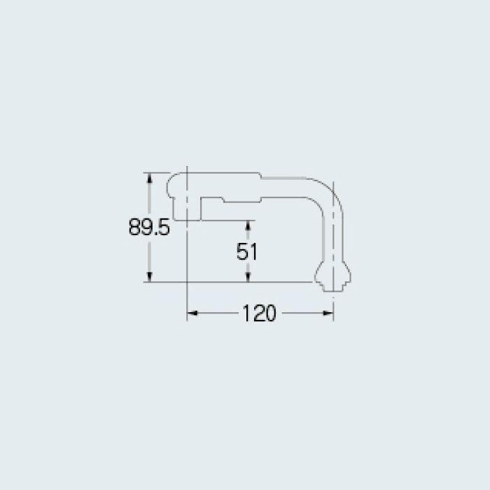 774-110 水栓先端部品 泡沫UFパイプ