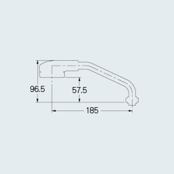 795-153 水栓先端部品 シンクシャワーUJパイプ 185