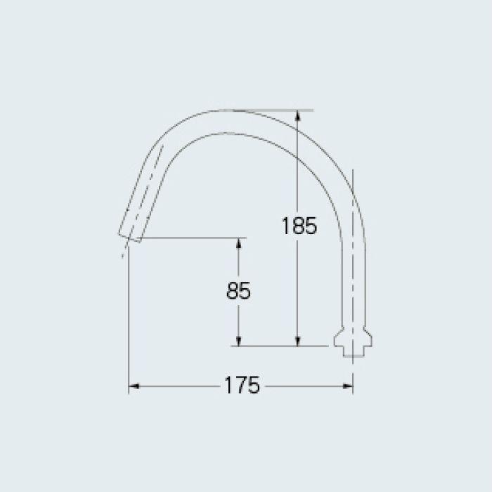 795-200 水栓先端部品 スワンパイプ