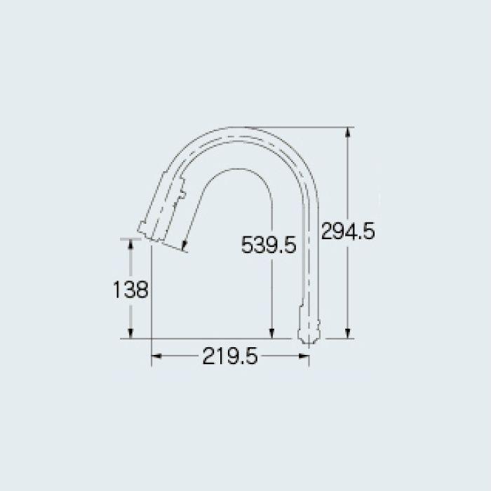 796-915 水栓先端部品 スワンムーブシャワー
