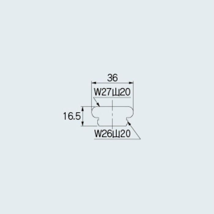 077-100 水栓先端部品 ネジアダプター(W27用)