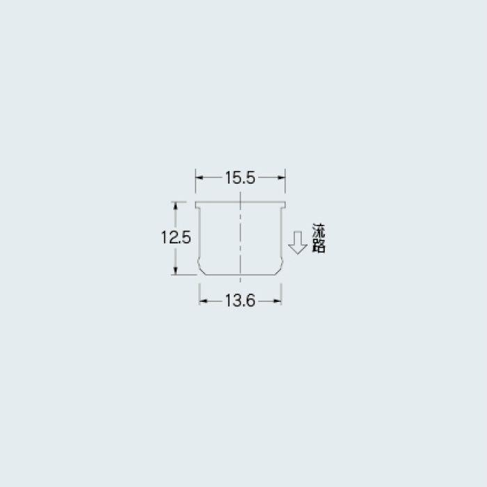 219-090-8 水栓先端部品 定流量パイプアダプター 白