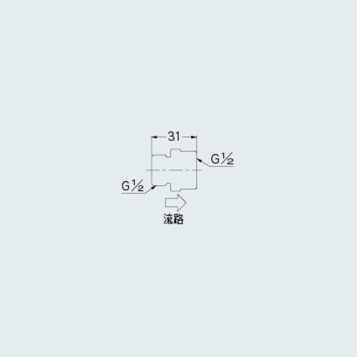 6207-3 水栓先端部品 定流量弁B