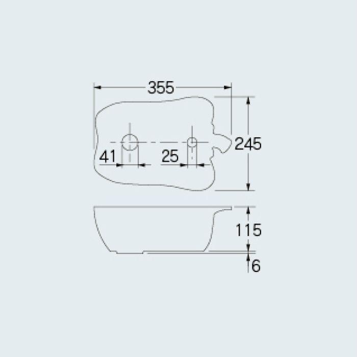 493-157-R アイキャッチ手洗器 国産パプリカ レッド
