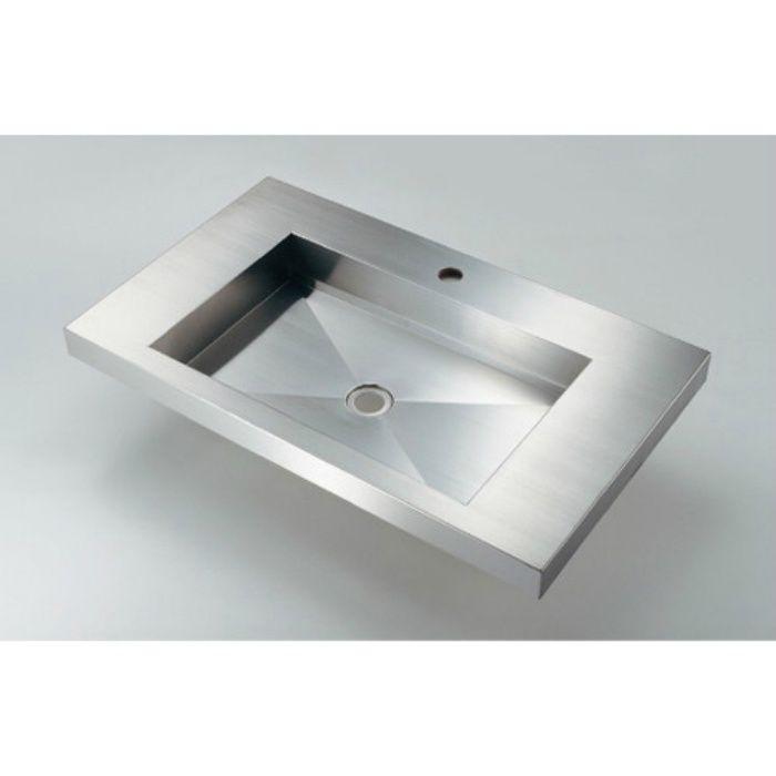 493-163 カウンター設置タイプ 角型洗面器