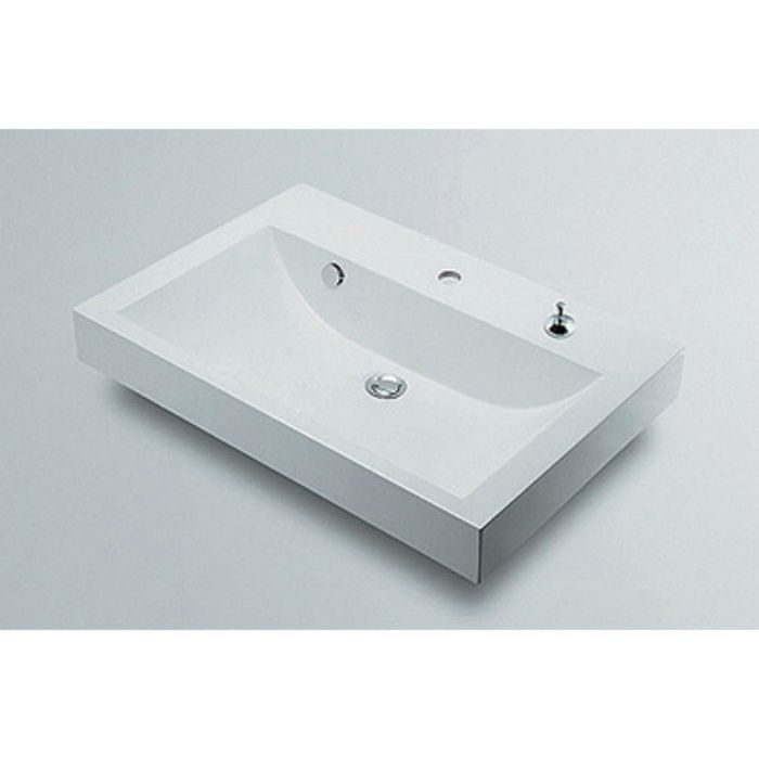 493-070-750H カウンター設置タイプ 角型洗面器(1ホール・ポップアップ独立つまみタイプ)