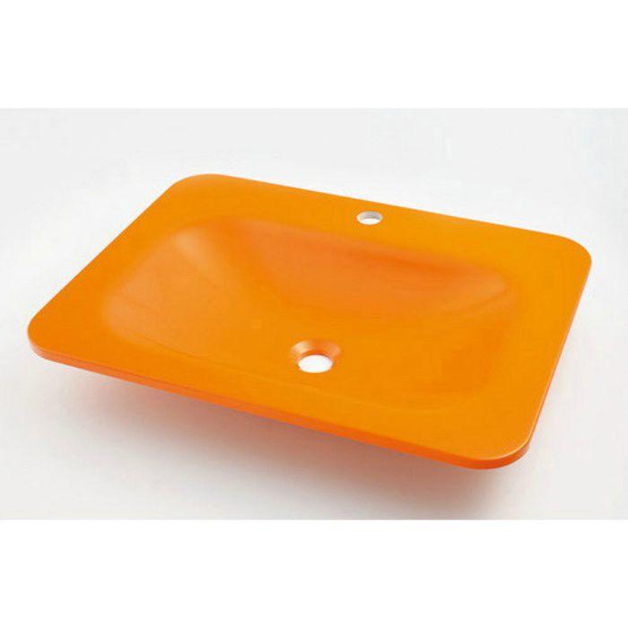 #MR-493220Y カウンター設置タイプ 角型洗面器 ゴールデンオレンジ