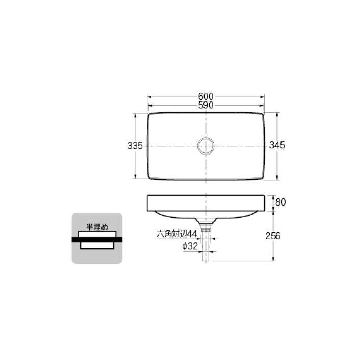 #DU-2355600000 カウンター設置タイプ 角型洗面器