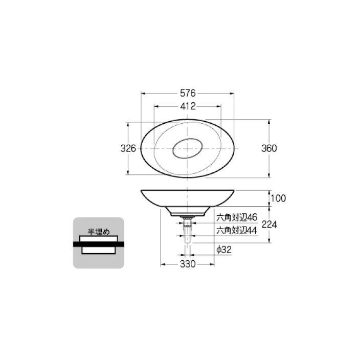 #MR-493225 カウンター設置タイプ 丸型洗面器