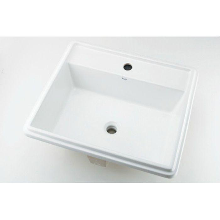 493-151 カウンター設置タイプ 角型洗面器(1ホール)