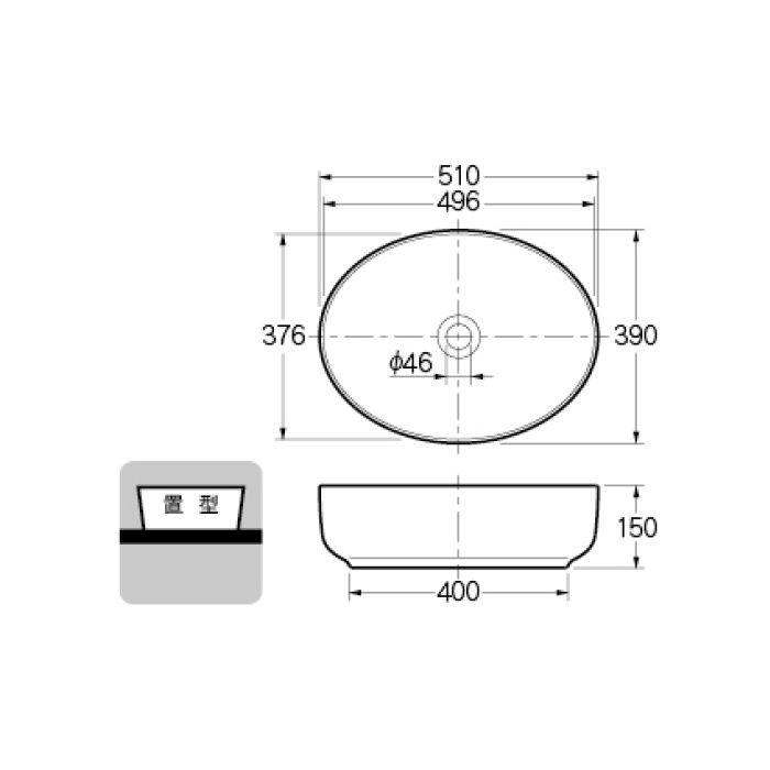 #CL-8747AC カウンター設置タイプ 丸型洗面器