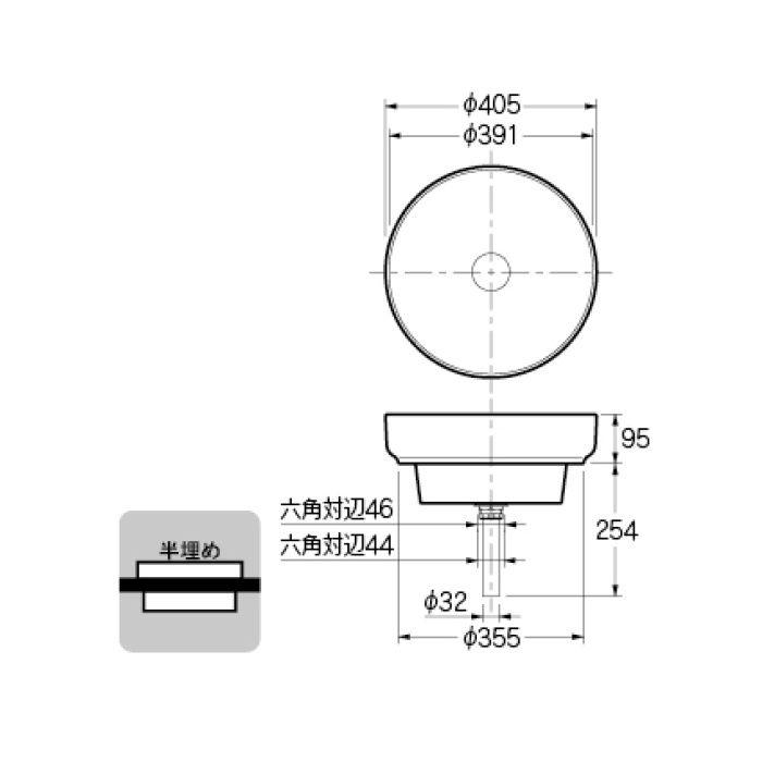 #CL-8767AC カウンター設置タイプ 丸型洗面器
