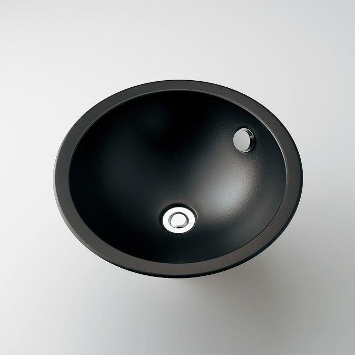 493-126-D カウンター設置タイプ 丸型洗面器 マットブラック