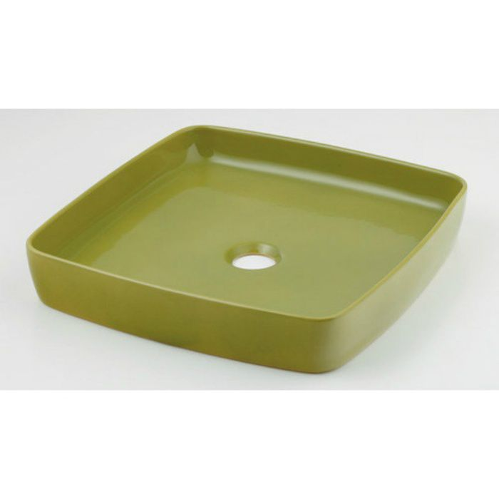 493-096-GR カウンター設置タイプ 角型手洗器 ピスタチオ