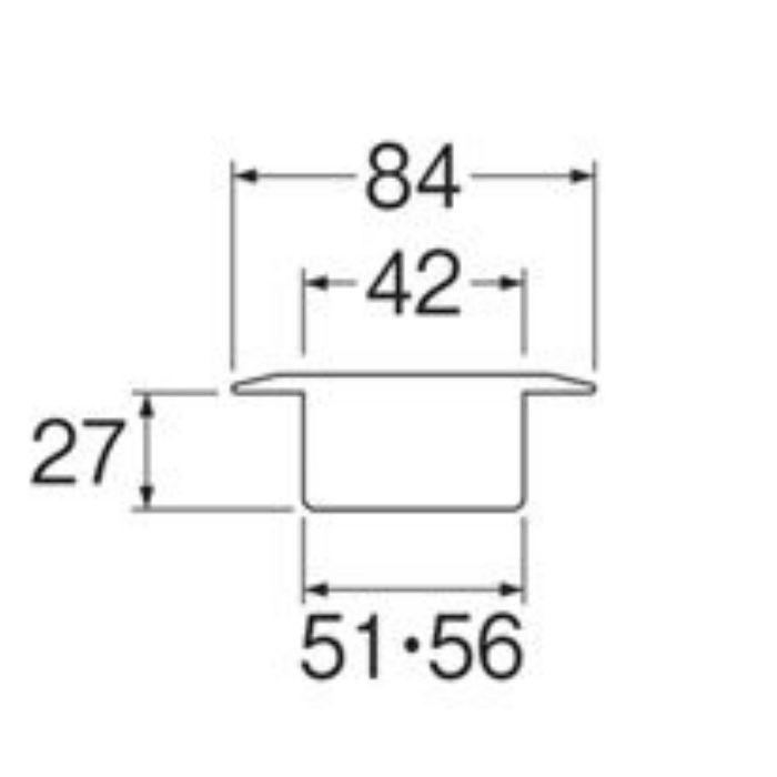 H565-50 洗濯機排水口