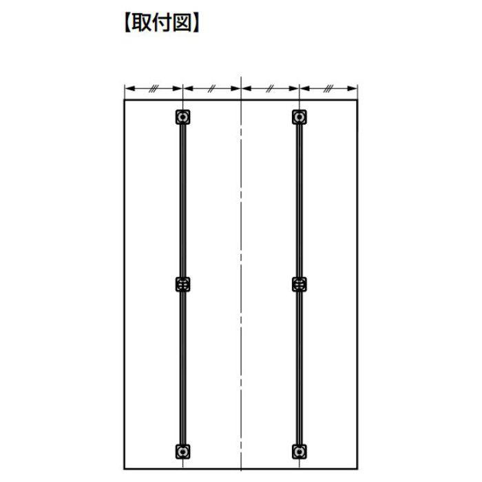 反り止め金具 OMMATN103型 簡単調整タイプ 開き戸用 OMMATN103224825CNF
