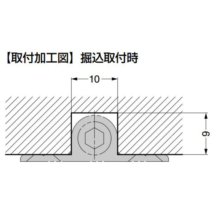 反り止め金具 OMMST701型 埋込・面付両用タイプ 引戸用 OMMST7012800TG