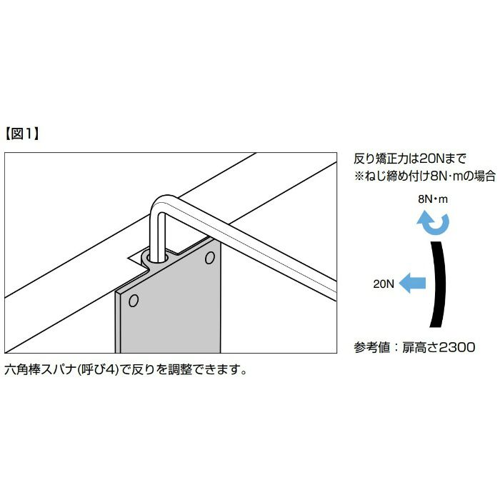 反り止め金具 OMMST701型 埋込・面付両用タイプ 引戸用 OMMST7012200TGB