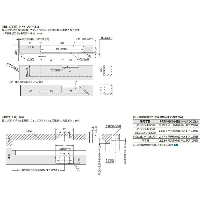 ランプ印 ラプコン隠しドアダンパー LDD-V®型 LDD-V-R