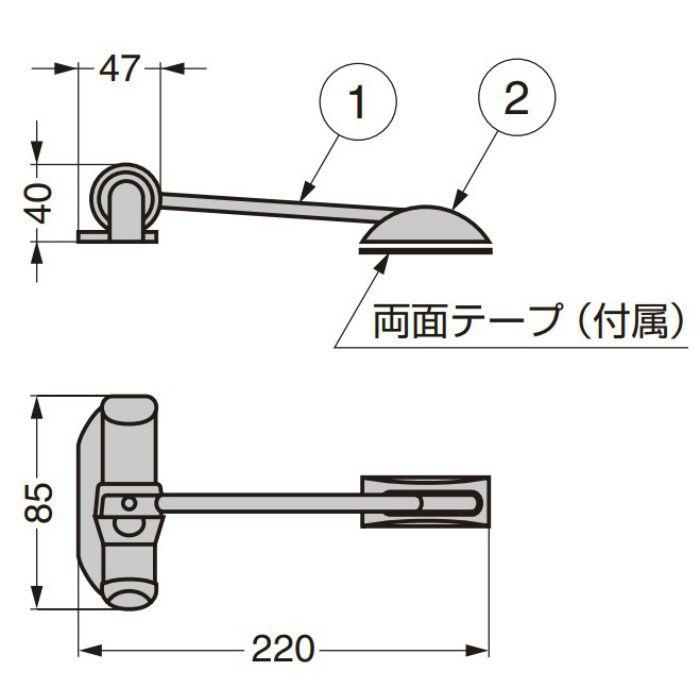 スプリングドアクローザー MA00551 MA00551