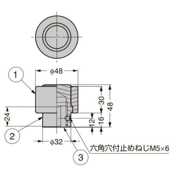 Zwei L ステンレス鋼製戸当り ZL-1801 ZL-1801