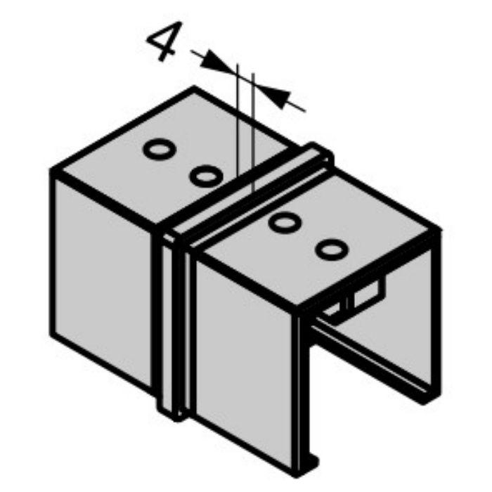 Q-railing 笠木用ジョイントパーツ 13-6790-040-12 角形ストレートジョイント 13-6790-040-12