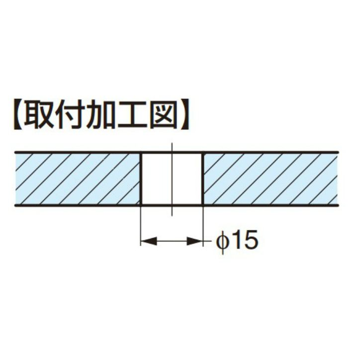 Q-railing ポイントフィックス® 13-0746型 13-0746-300-12