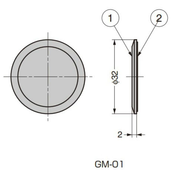ランプ印 ガラスパネル用マーカー GM型 GM-01