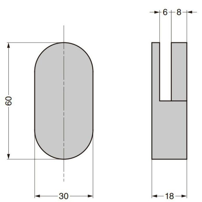 HEWI ミラークリップ 477-01-100型 477-01-100-33