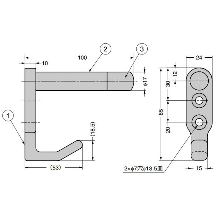 ランプ印 戸当りフック HT-100N HT-100N