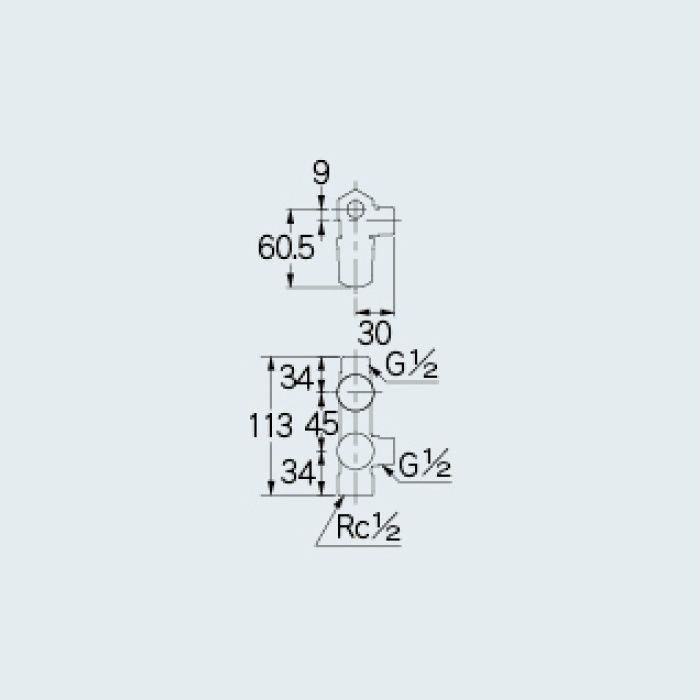 783-531-13B 止水栓 キッチンヘッダー