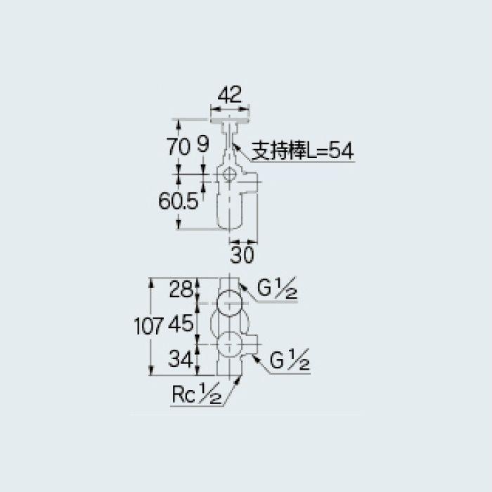 783-533-13B 止水栓 キッチンヘッダー