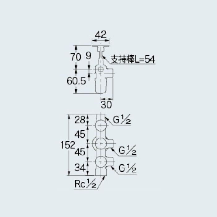 783-534-13B 止水栓 キッチンヘッダー