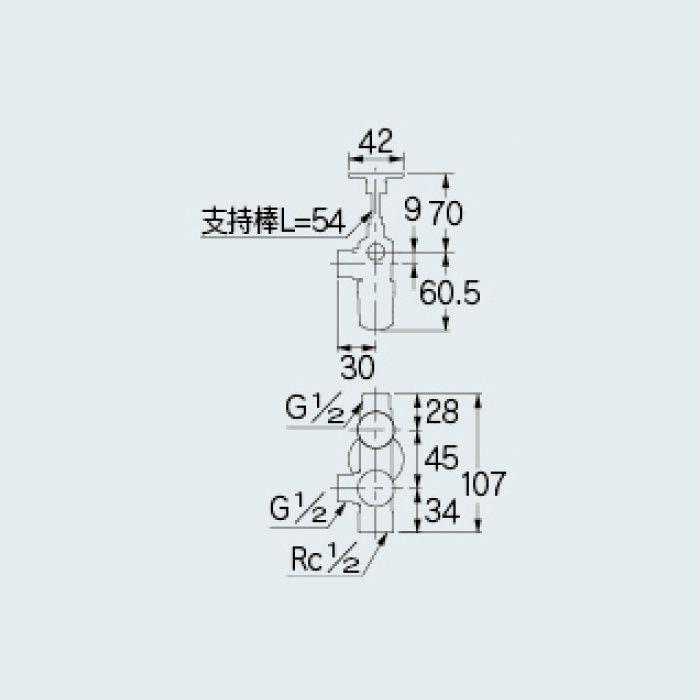 783-543-13 止水栓 キッチンヘッダー