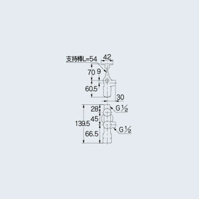 783-551-13 止水栓 キッチンヘッダー